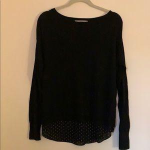 NWOT Loft sweater with blouse-like bottom